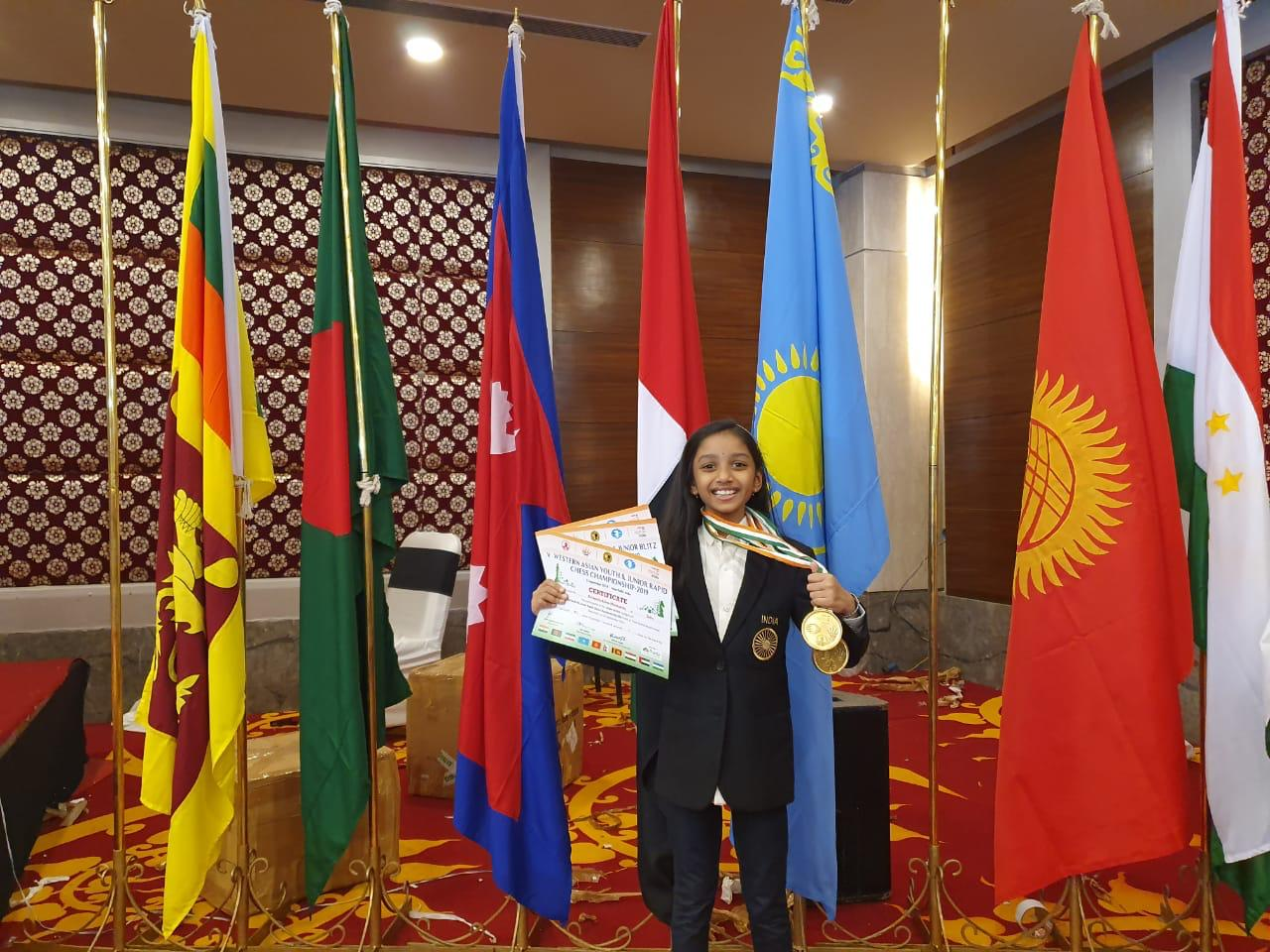 You are currently viewing Congratulations to Alana Meenakshi for coming First in Rapid & Blitz in Western Asia under 8 Girls championship 2019!