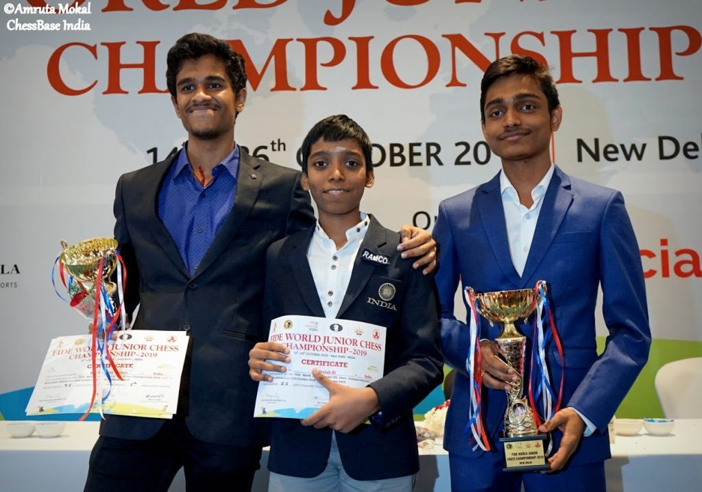 Read more about the article ChessGurukul students who won 3 of top10 places at World Junior Championship at Delhi!