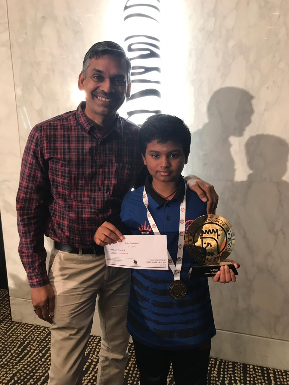 You are currently viewing Congratulations to Pranesh M for winning AbuDhabi juniors championship!