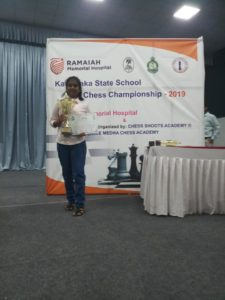 Read more about the article Spurthi secured Second in U-12 Karnataka state Schools Chess 2019
