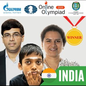 Read more about the article Team India is co-champion in Online Olympiad 2020