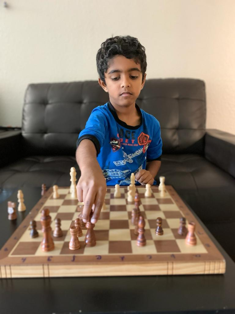 Read more about the article Advaith won the 1st Chess Gurukul Global U500 tournament for US students
