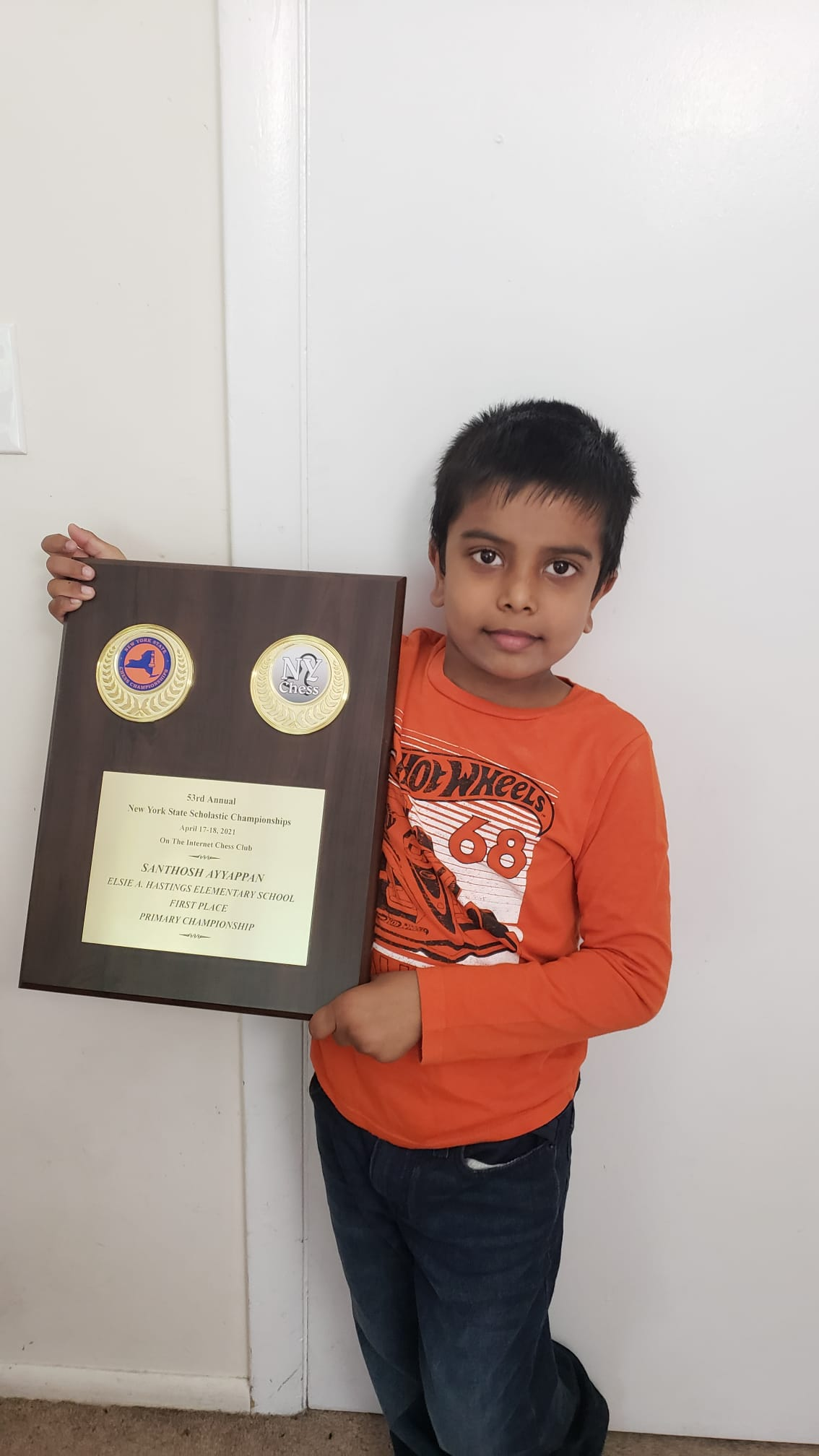 You are currently viewing Santhosh wins the 2021 Greater New York Scholastic Championship Primary section