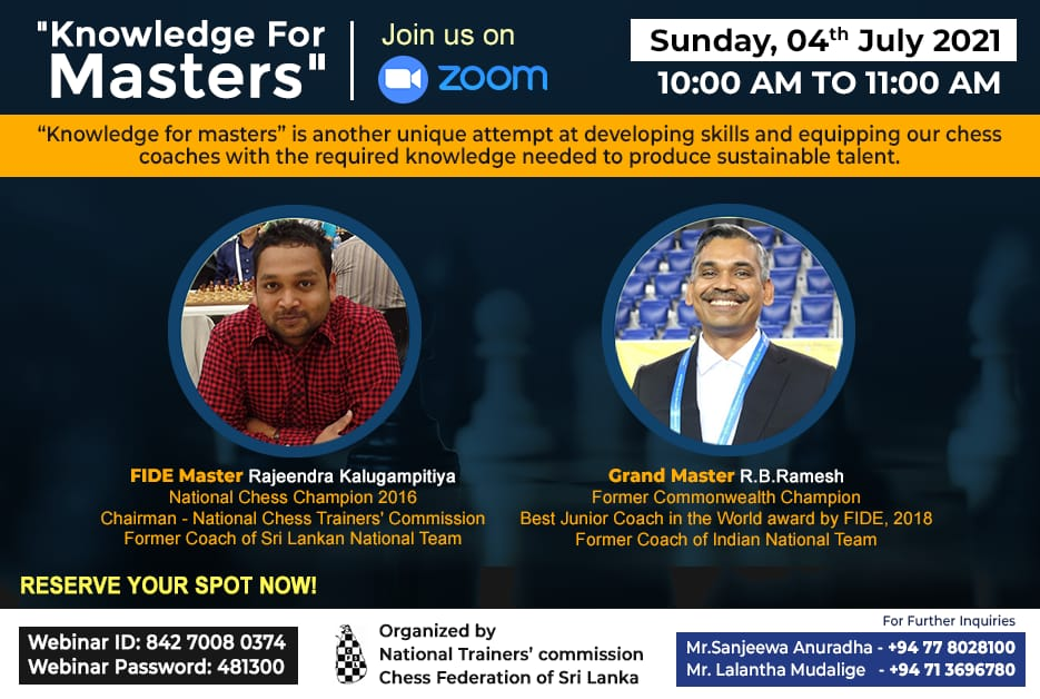 Read more about the article GM RB Ramesh gave training to FIDE Trainers in Srilanka