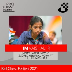 Read more about the article Congratulations to Vaishali on becoming India's latest IM