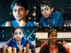 Read more about the article Congratulations to Vaishali, Pragg, Savitha and Bhakthi Kulkarni on qualifying to represent India in Online Olympiad 2021